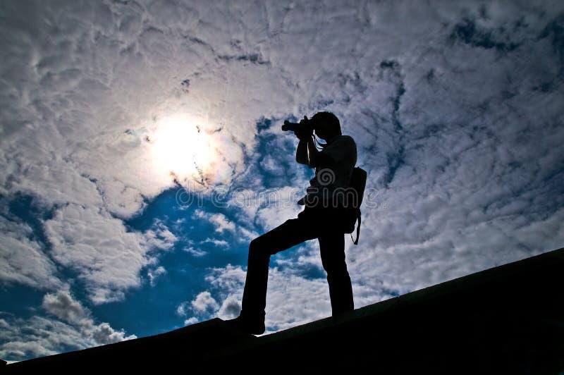 σκιαγραφία στοκ εικόνα με δικαίωμα ελεύθερης χρήσης