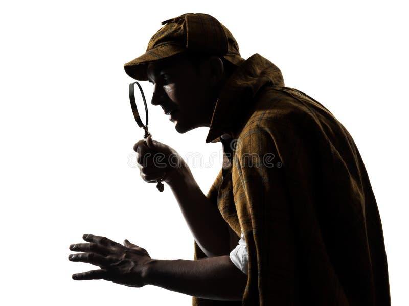 Σκιαγραφία Sherlock holmes στοκ φωτογραφία με δικαίωμα ελεύθερης χρήσης