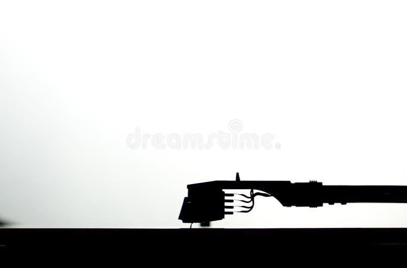 Σκιαγραφία tonearm στοκ εικόνες με δικαίωμα ελεύθερης χρήσης