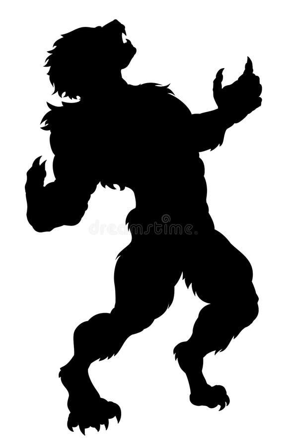 Σκιαγραφία Werewolf απεικόνιση αποθεμάτων