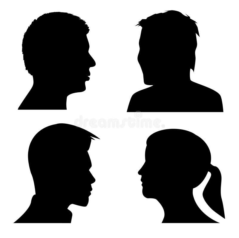 σκιαγραφίες ανθρώπων ελεύθερη απεικόνιση δικαιώματος
