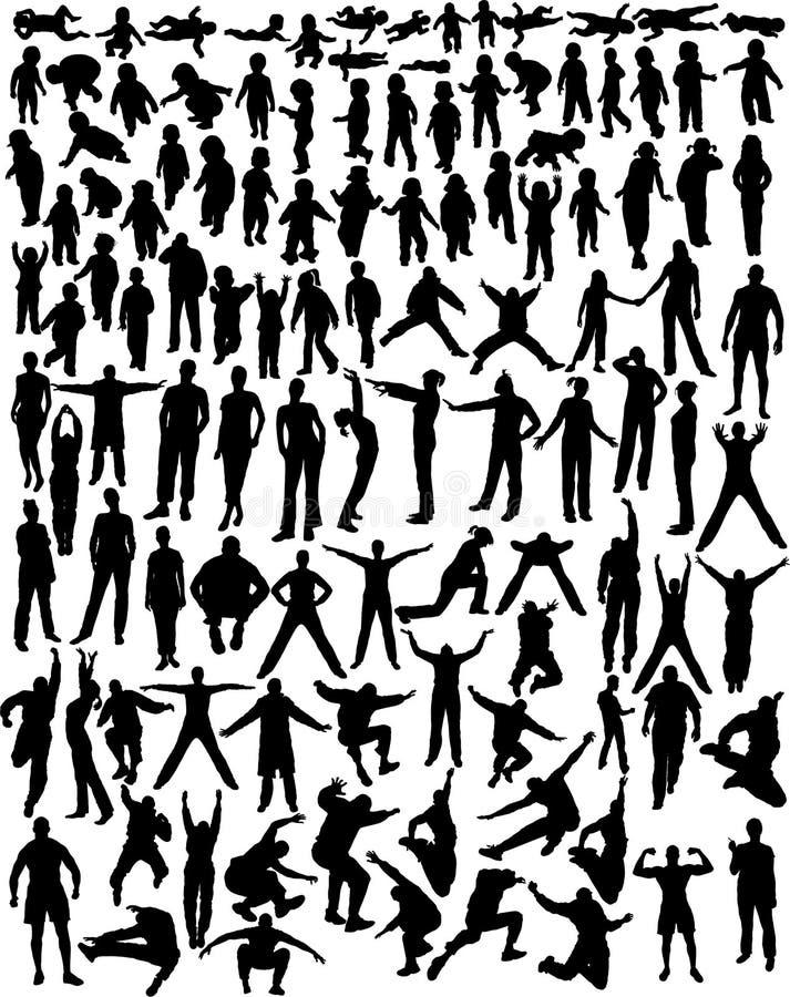 σκιαγραφίες ανθρώπων απεικόνιση αποθεμάτων