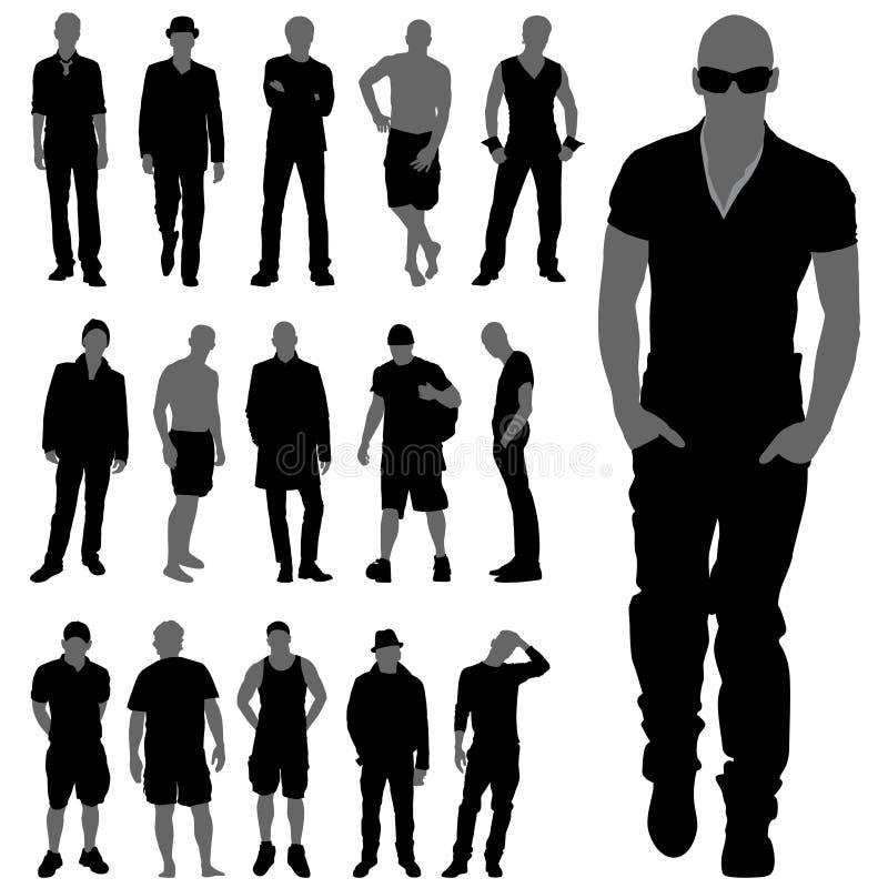 σκιαγραφίες ατόμων μόδας διανυσματική απεικόνιση