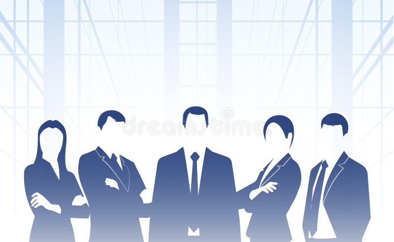 Σκιαγραφίες επιχειρησιακού υποβάθρου των ανθρώπων διανυσματική απεικόνιση