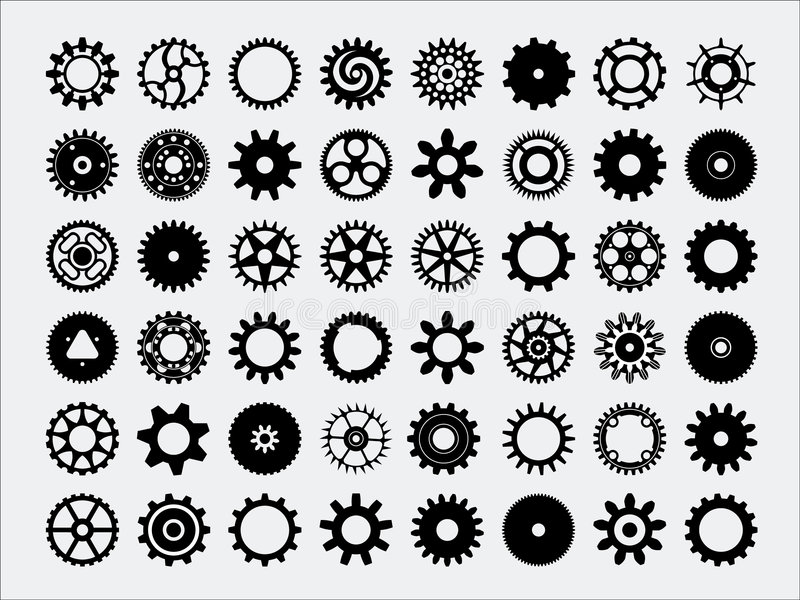 σκιαγραφίες εργαλείων απεικόνιση αποθεμάτων