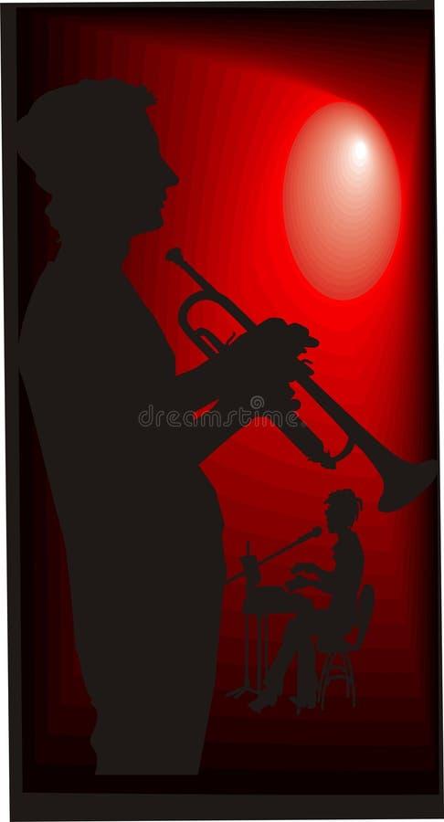 σκιαγραφίες μουσικών ελεύθερη απεικόνιση δικαιώματος