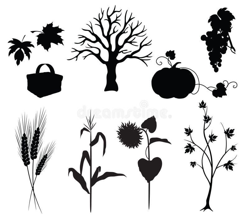 σκιαγραφίες φθινοπώρου απεικόνιση αποθεμάτων