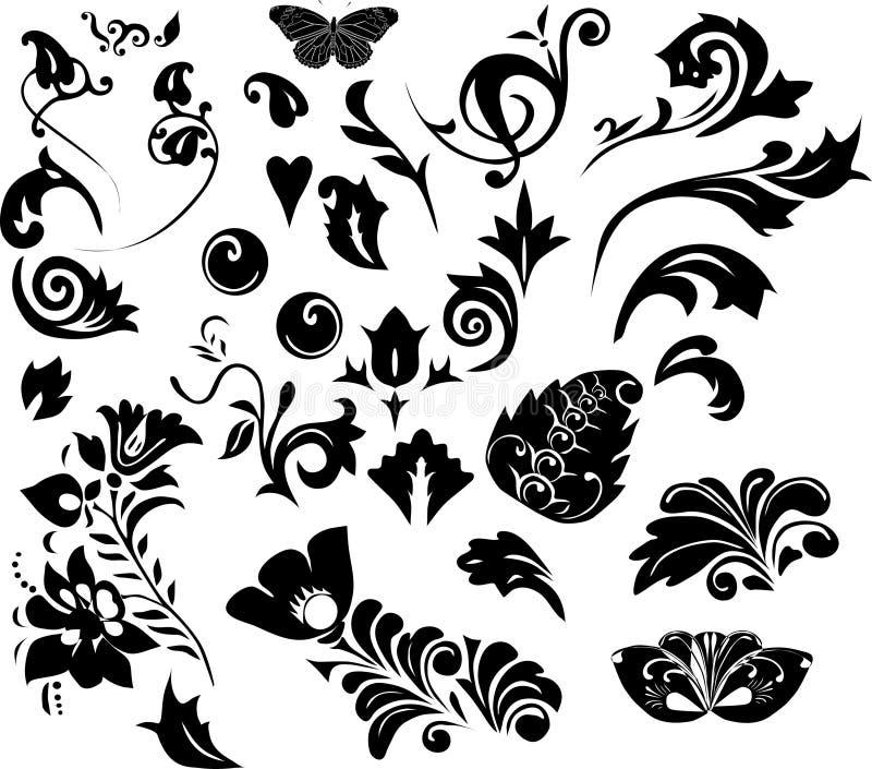 σκιαγραφίες φυλλώματο&sig απεικόνιση αποθεμάτων