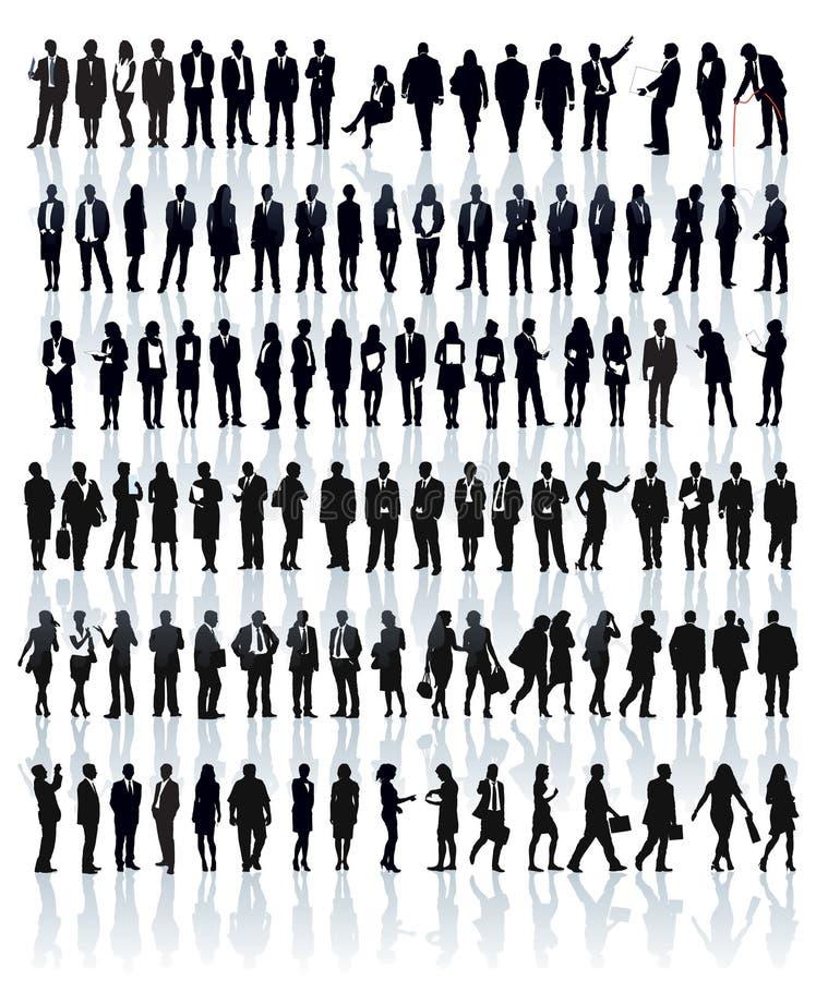Σκιαγραφίες Businesspeople απεικόνιση αποθεμάτων
