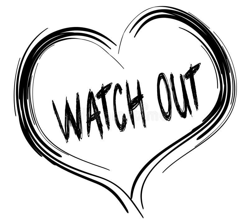 Σκιαγραφημένη μαύρη καρδιά με το κείμενο ΡΟΛΟΓΙΩΝ ΕΞΩ διανυσματική απεικόνιση