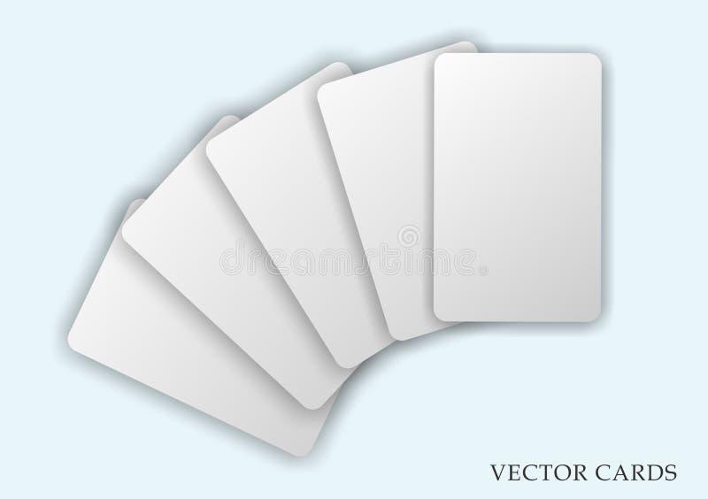 Σκιασμένες κενές διανυσματικές κάρτες καθορισμένες στοκ εικόνα με δικαίωμα ελεύθερης χρήσης