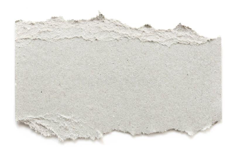 Σκισμένο χαρτόνι απομονωμένο σε λευκό στοκ εικόνες