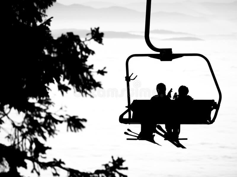 σκι ανελκυστήρων στοκ φωτογραφίες