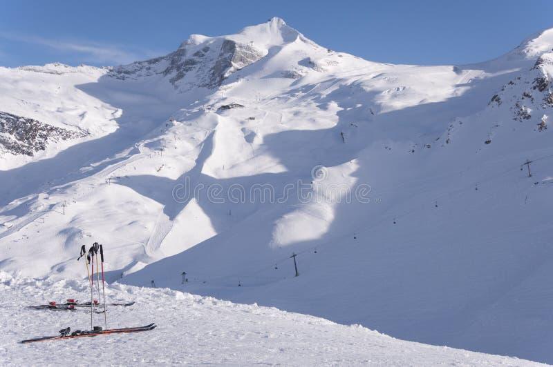 Σκι και παγετώνας Hintertux στοκ φωτογραφία με δικαίωμα ελεύθερης χρήσης