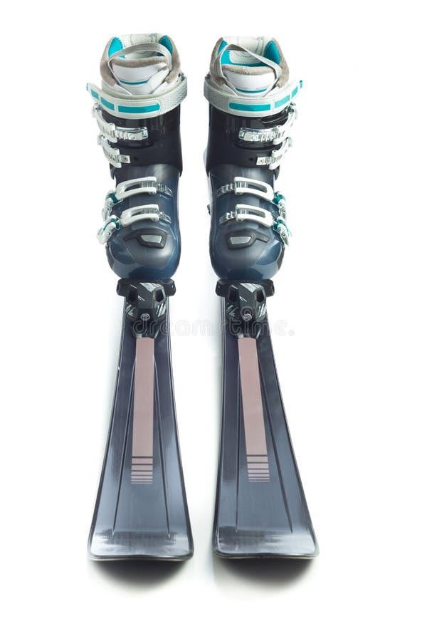 Σκι με τις μπότες σκι στοκ εικόνες
