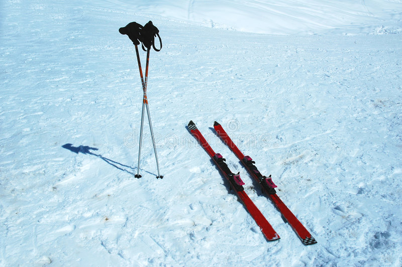 σκι πόλων στοκ φωτογραφία με δικαίωμα ελεύθερης χρήσης
