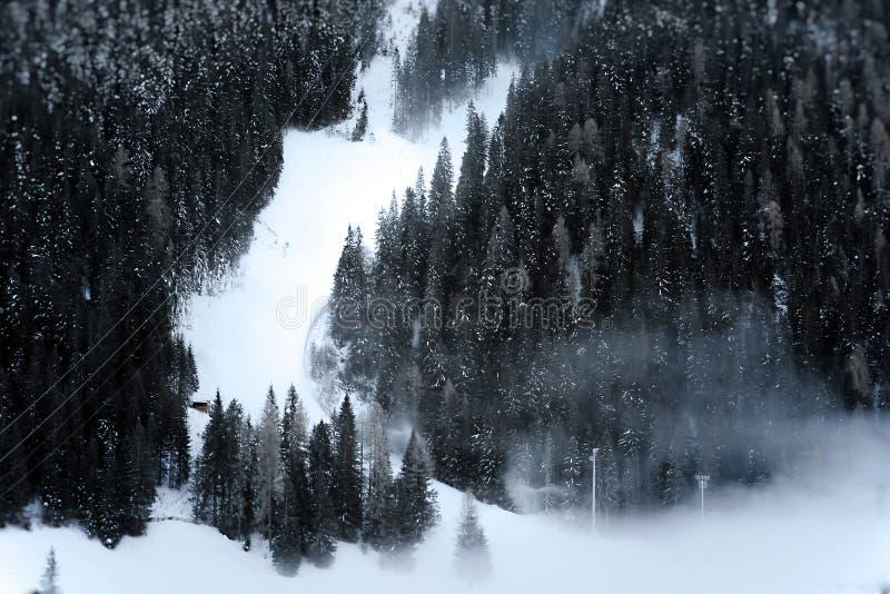 σκι τρεξίματος ορών στοκ φωτογραφία