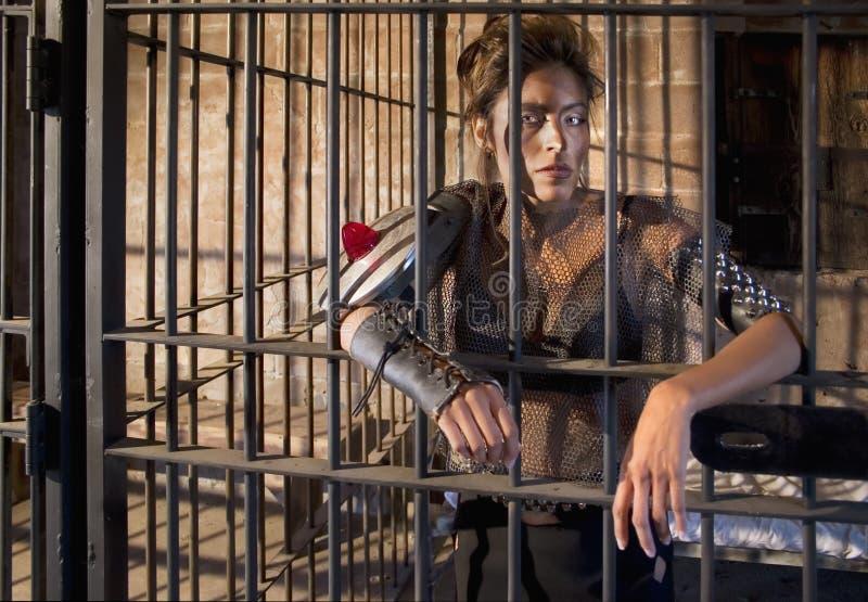 σκληρή γυναίκα φυλακών στοκ εικόνα
