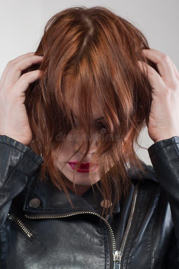 σκληροί χρόνοι ζωής Διαφήμιση Hairstyle στοκ φωτογραφία με δικαίωμα ελεύθερης χρήσης