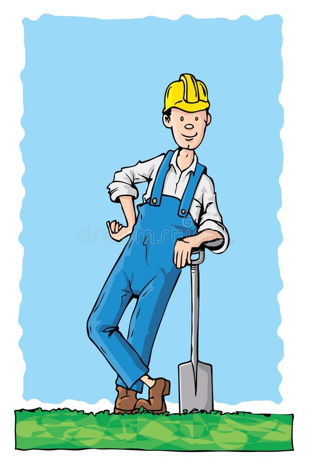 σκληρός εργάτης καπέλων κ& απεικόνιση αποθεμάτων