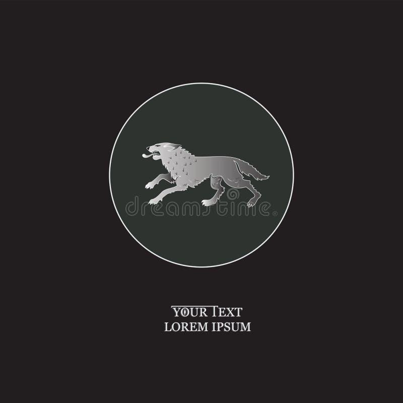 Σκληρός λύκος σε έναν κύκλο ελεύθερη απεικόνιση δικαιώματος