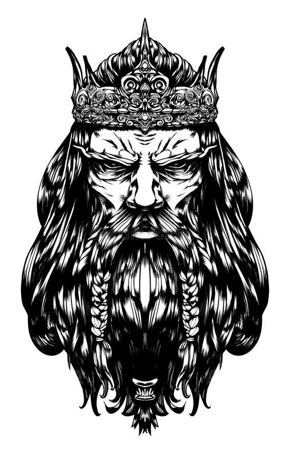 Σκληρός παλαιός βασιλιάς απεικόνιση αποθεμάτων