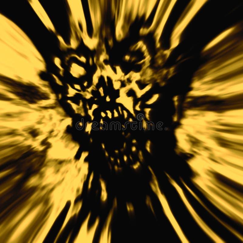 Σκληρό κίτρινο κεφάλι zombie ελεύθερη απεικόνιση δικαιώματος