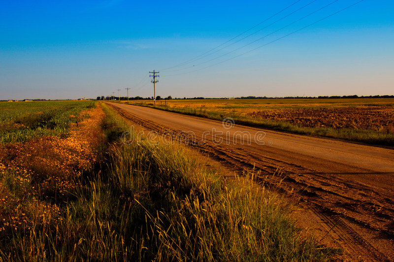 σκονισμένος δρόμος χωρών στοκ εικόνες