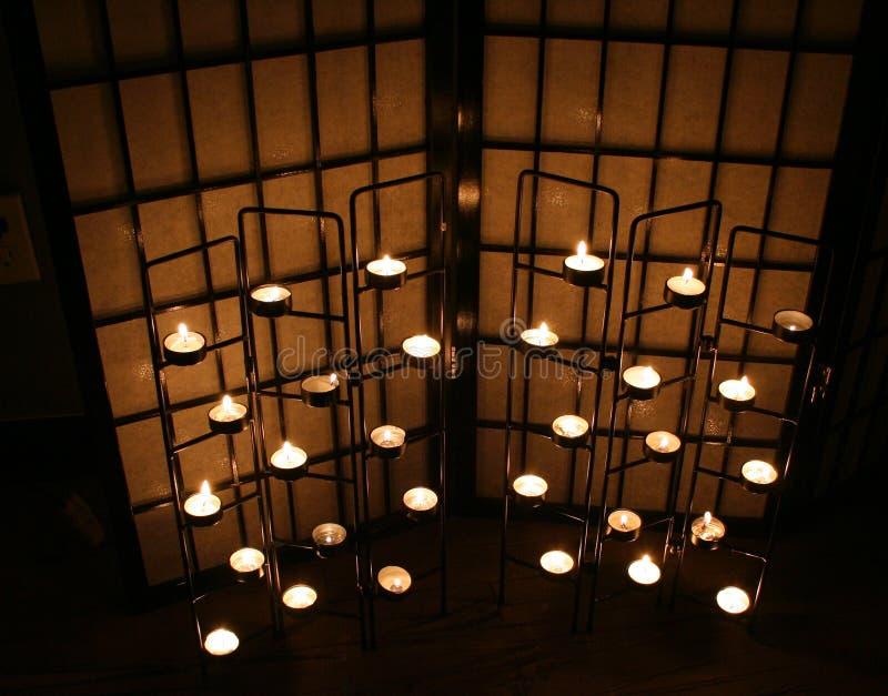 σκοτάδι κεριών στοκ εικόνες με δικαίωμα ελεύθερης χρήσης
