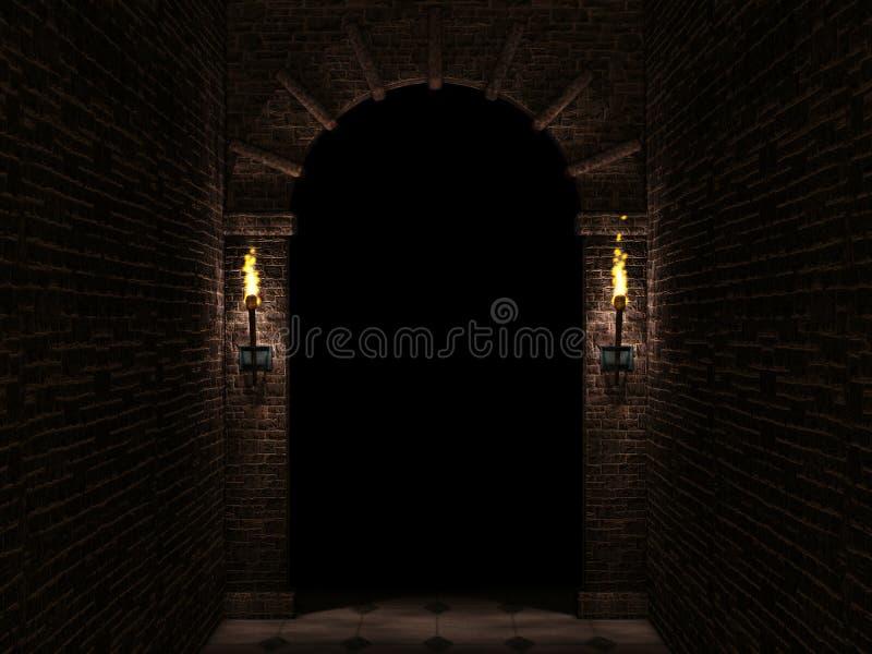 σκοτάδι αψίδων διανυσματική απεικόνιση