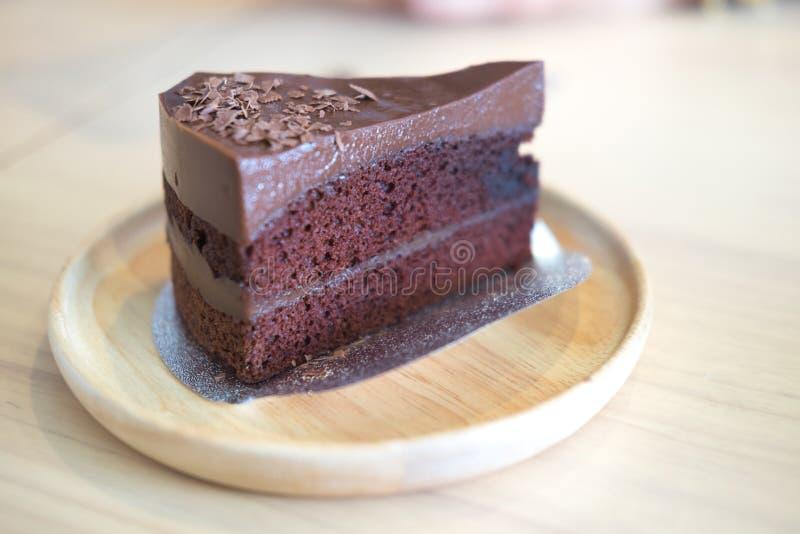 σκοτάδι σοκολάτας κέικ στοκ εικόνα με δικαίωμα ελεύθερης χρήσης