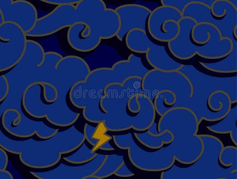 σκοτάδι σύννεφων απεικόνιση αποθεμάτων