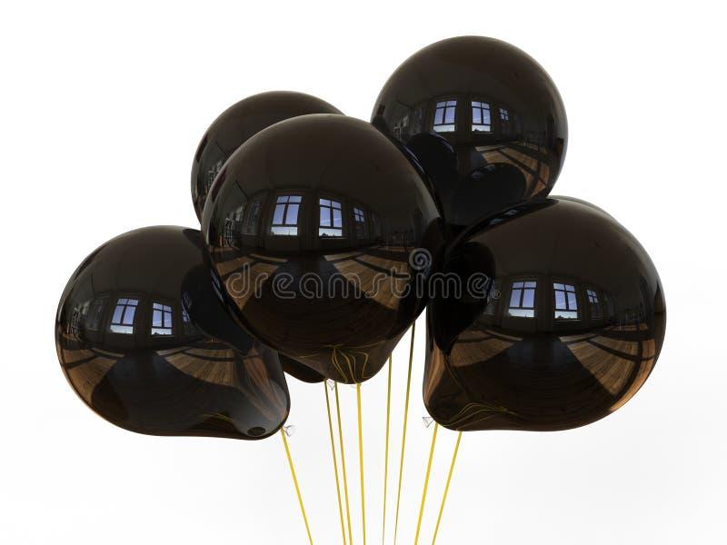 Σκοτεινά αντανακλαστικά μπαλόνια ελεύθερη απεικόνιση δικαιώματος