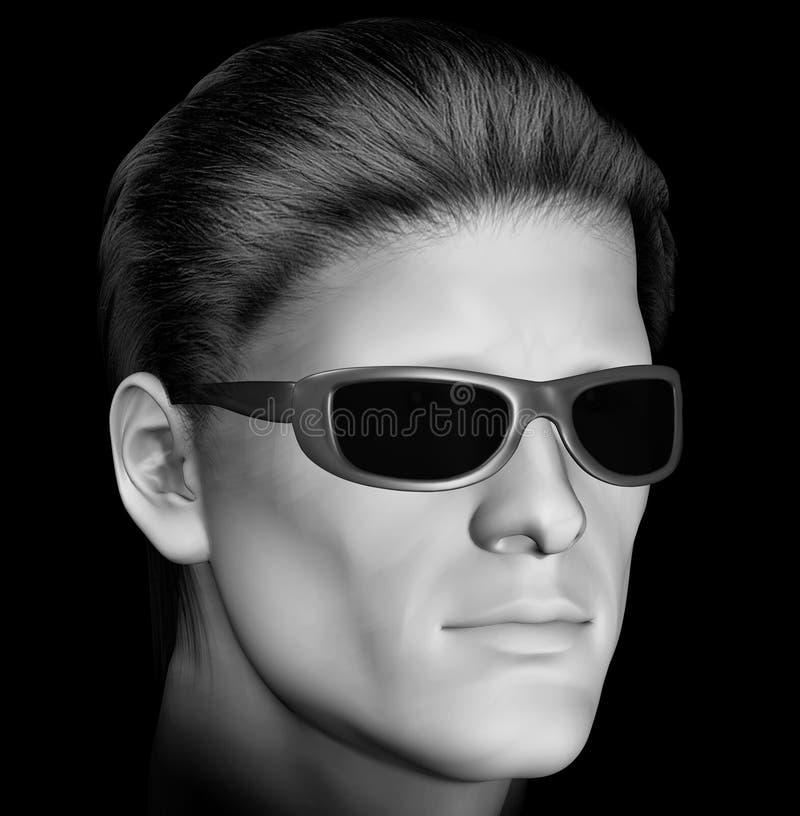 σκοτεινά γυαλιά ηλίου ατόμων διανυσματική απεικόνιση