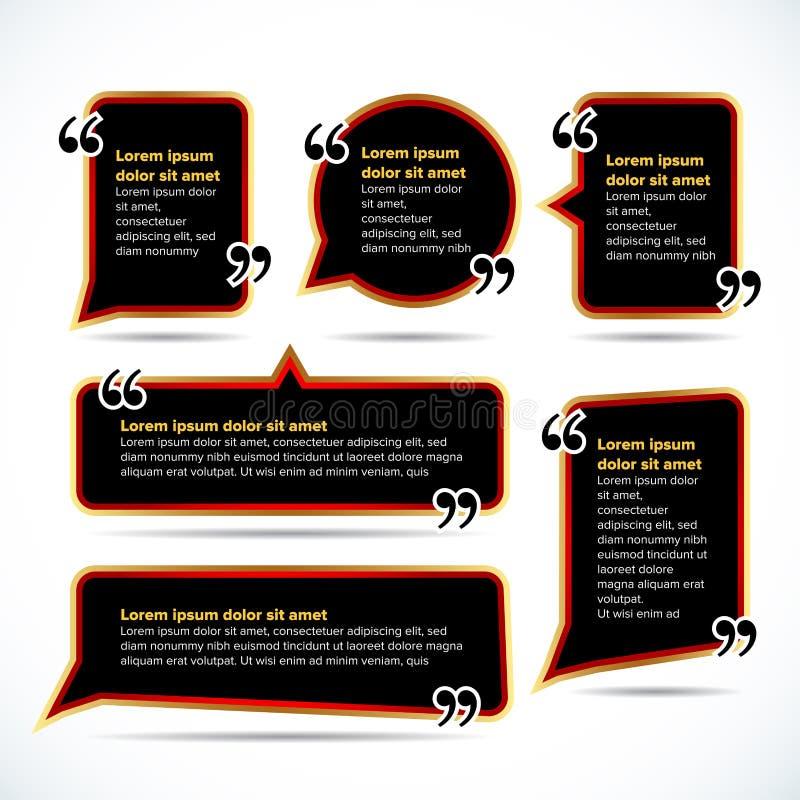 Σκοτεινά κενά πρότυπα αποσπάσματος χρώματος Φυσαλίδα αποσπάσματος Κενό πρότυπο Πρότυπο επαγγελματικών καρτών κύκλων, φύλλο εγγράφ ελεύθερη απεικόνιση δικαιώματος