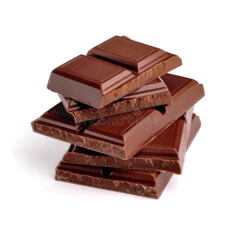 σκοτεινά κεραμίδια σοκολάτας στοκ φωτογραφία με δικαίωμα ελεύθερης χρήσης