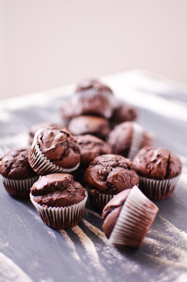 Σκοτεινά μίνι muffins σοκολάτας στοκ φωτογραφία με δικαίωμα ελεύθερης χρήσης