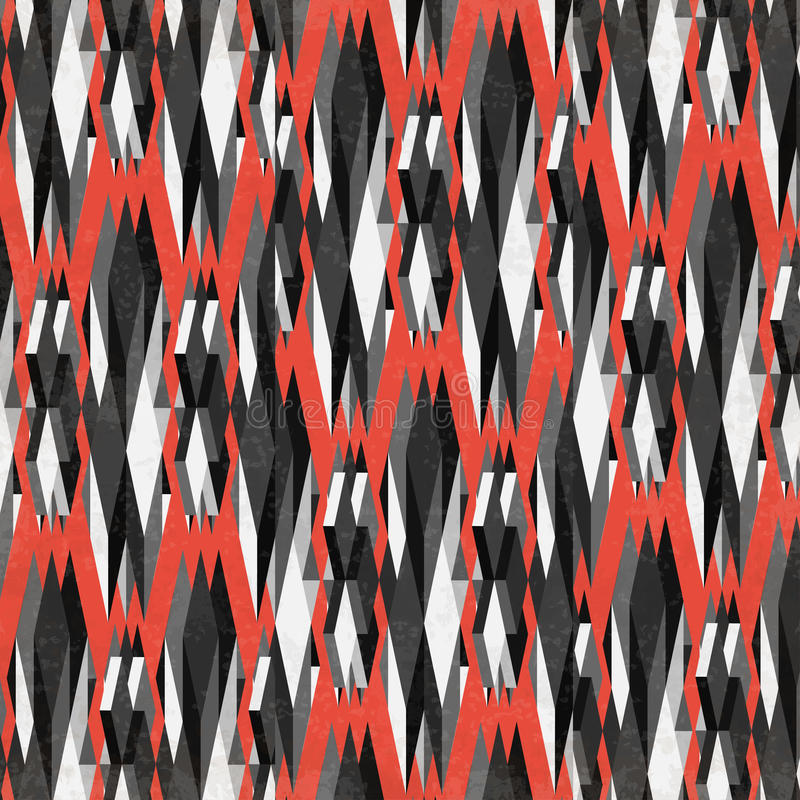 Σκοτεινά πολύγωνα σε ένα κόκκινο υπόβαθρο ελεύθερη απεικόνιση δικαιώματος