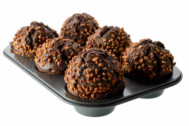 Σκοτεινά Muffins σοκολάτας στοκ εικόνες