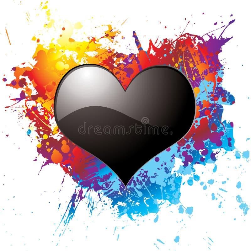 σκοτεινή αγάπη διανυσματική απεικόνιση
