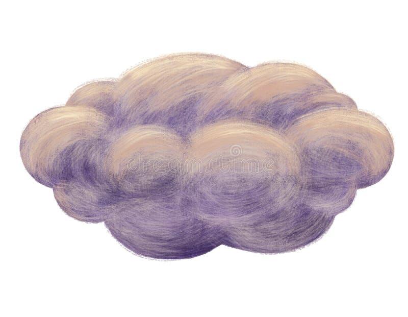 Σκοτεινή απεικόνιση σύννεφων ελεύθερη απεικόνιση δικαιώματος