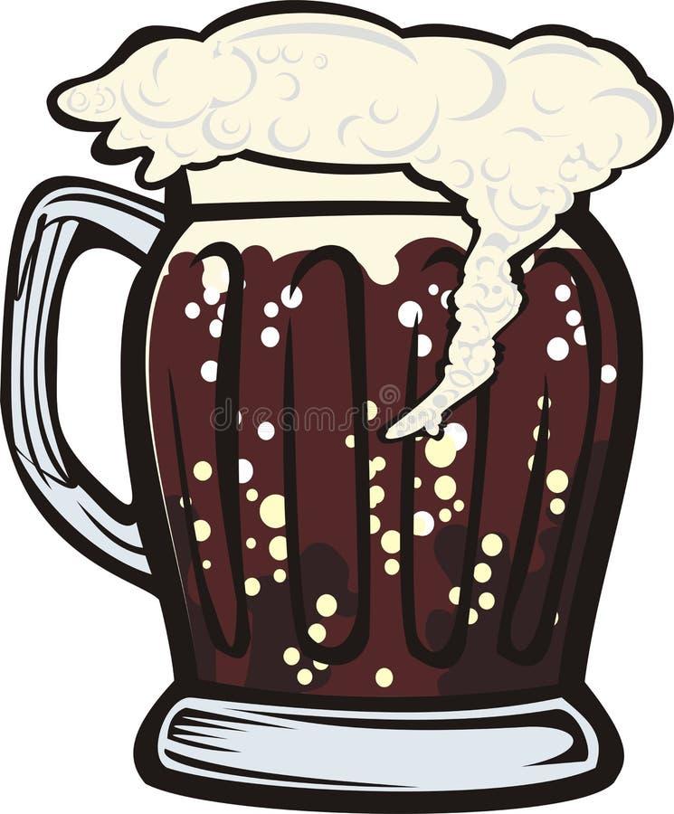 σκοτεινή κούπα μπύρας ελεύθερη απεικόνιση δικαιώματος