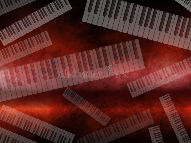 σκοτεινή μουσική πληκτρολογίων grunge ανασκόπησης διανυσματική απεικόνιση