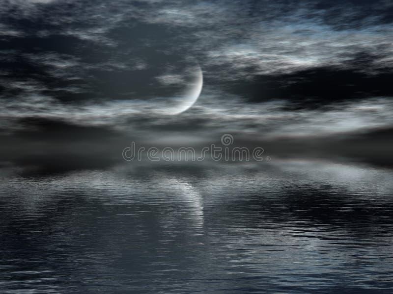 σκοτεινή νύχτα ελεύθερη απεικόνιση δικαιώματος
