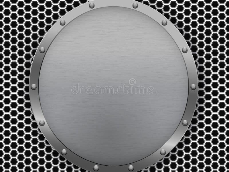 σκοτεινή σύσταση μετάλλ&omega διανυσματική απεικόνιση