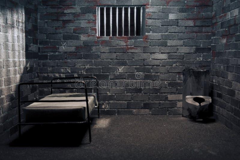 σκοτεινή φυλακή νύχτας κ&upsi στοκ εικόνα με δικαίωμα ελεύθερης χρήσης