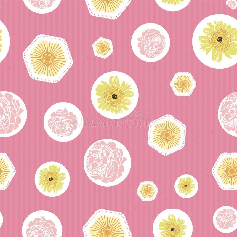 Σκοτεινή floral αγγλική τυπωμένη ύλη σχεδίων τριαντάφυλλων και φύλλων άνευ ραφής r απεικόνιση αποθεμάτων