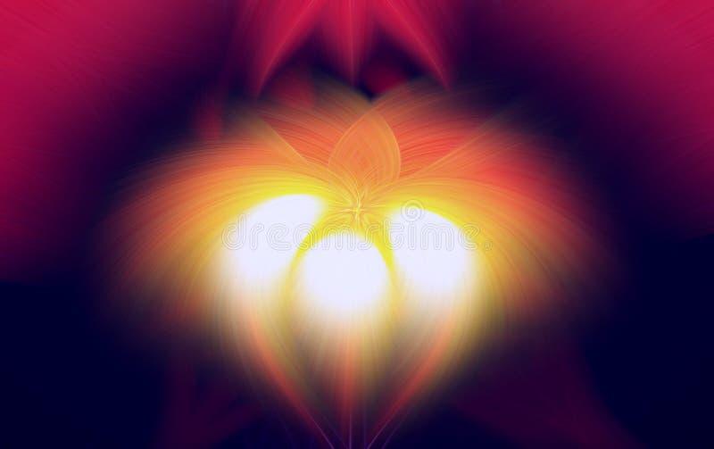 Σκοτεινή fractal φλογών προεξοχή υποβάθρου λουλούδι διανυσματική απεικόνιση