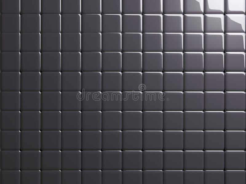 Σκοτεινός-γκρίζο στιλπνό υπόβαθρο σύστασης μετάλλων κεραμιδιών απεικόνιση αποθεμάτων