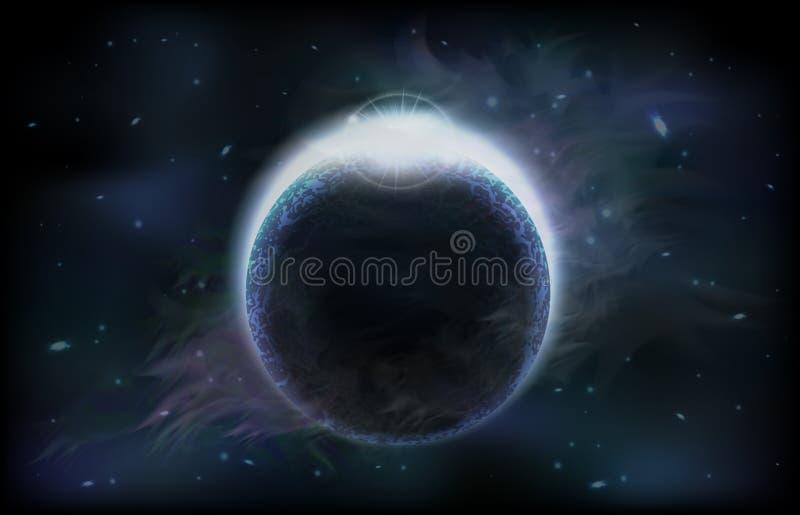 σκοτεινός πλανήτης διανυσματική απεικόνιση